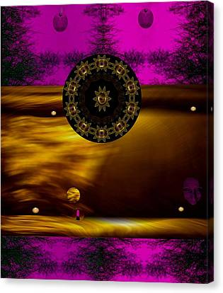 Candle Lit Canvas Print - In The Sacred Forest Of Moonlight by Pepita Selles