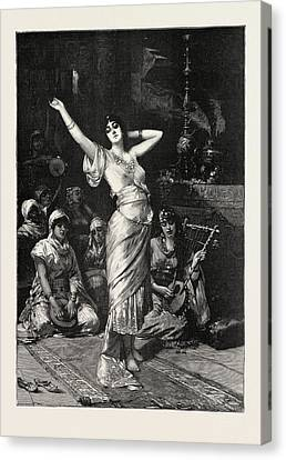 In The Seraglio, 1893 Engraving. Nathaniel Sichel Canvas Print by Sichel, Nathaniel (1843-1907), German