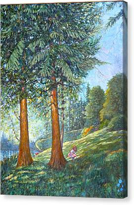 Canvas Print featuring the painting In The Shade by Charles Munn