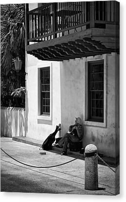 Canvas Print featuring the photograph In The Shade by Greg Jackson