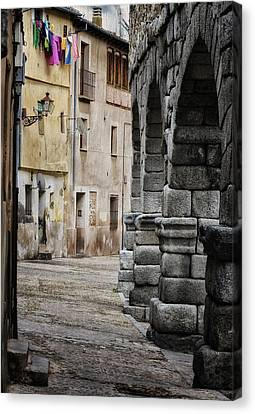 Stonework Canvas Print - In The Shadow by Joan Carroll