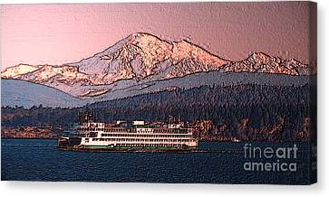 In The Shadow Of A  Mountain Canvas Print