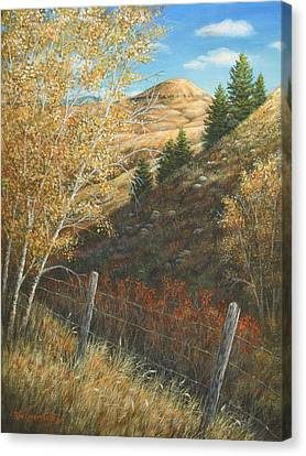 Canvas Print featuring the painting In The Shadow Of Belt Butte by Kim Lockman