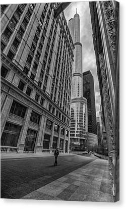 Wrigley Building And Trump Tower Canvas Print by Mike Burgquist