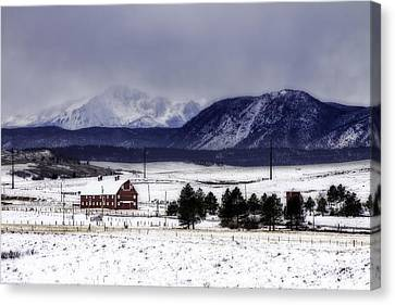 Canvas Print featuring the photograph In The Shadow Of Pike's Peak by Kristal Kraft