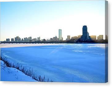 In The Shadow Of The Pru Canvas Print by Toby McGuire