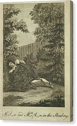 In The Shrubbery Canvas Print by British Library