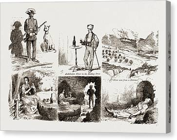 In The Spanish Black Country, In An Andalusian Lead Mining Canvas Print by Litz Collection