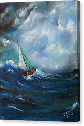 In The Storm Canvas Print