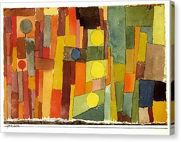 In The Style Of Kairouan Canvas Print by Paul Klee