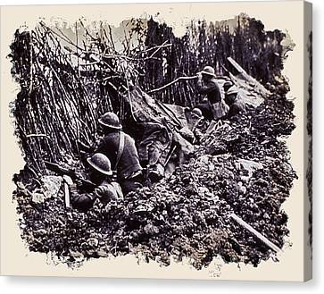 In The Trenches Canvas Print by Daniel Hagerman