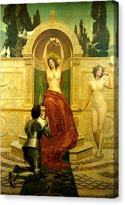 In The Venusberg Tannhauser Canvas Print by John Collier