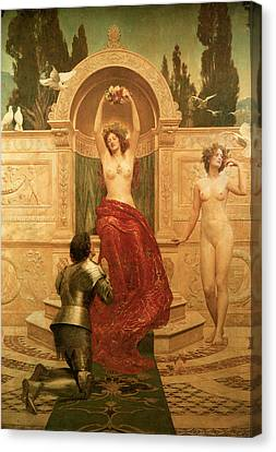In The Venusburg Canvas Print by The Honourable John Collier