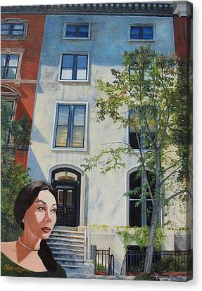 Haunted House Canvas Print - In The Way Of Spindrift Jan Bryant Bartell by Barbara Barber