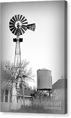 In The Windmills Of Your Mind Canvas Print by Kathy  White