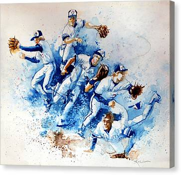 Baseball Canvas Print - In The Zone by Hanne Lore Koehler