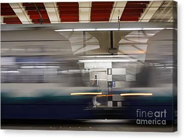 Ubahn Canvas Print - In Transit by Yuri Levchenko