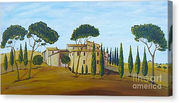 In Tuscany Canvas Print by Christine Huwer