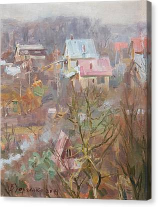 Thaw Canvas Print - In Vicinities Of Uzhgorod by Victoria Kharchenko