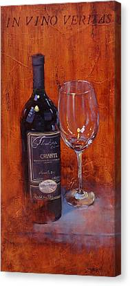In Vino Veritas Canvas Print by Laura Lee Zanghetti
