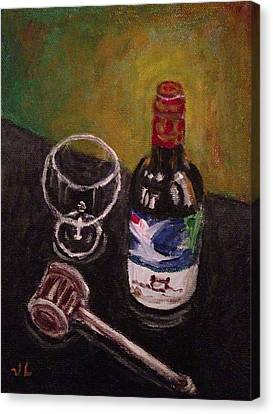 In Vino Veritas Canvas Print by Victoria Lakes