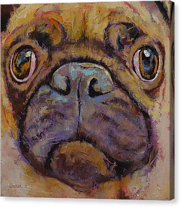 Pug Canvas Print by Michael Creese