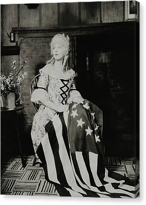 Ina Claire As Betsy Ross Canvas Print by Charles Sheeler