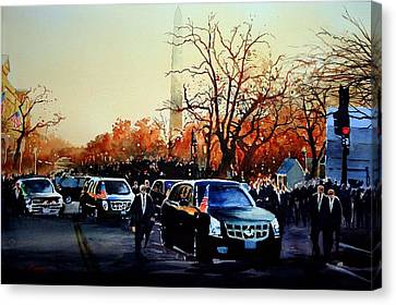 Inaugural Canvas Print by Ron Bigony