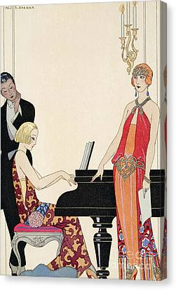 Glamor Canvas Print - Incantation by Georges Barbier