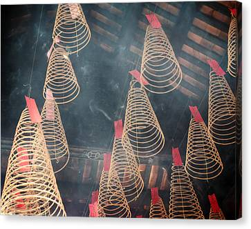 Canvas Print featuring the photograph Incense Coils by Lucinda Walter