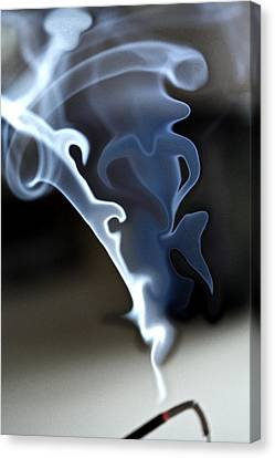 Incense Smoke Dance - Smoke - Dance Canvas Print