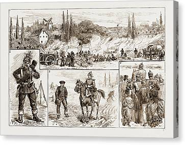 Incidents On The Field, Germany Canvas Print by Litz Collection