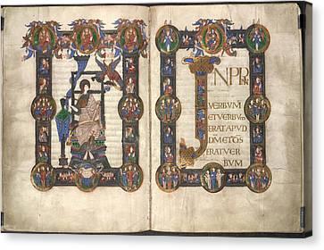 Incipit To St John's Gospel Canvas Print