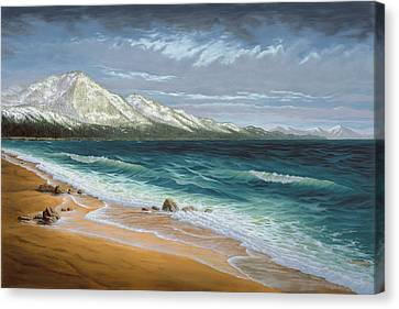 Incline Canvas Print - Incline Beach - North Shore - Lake Tahoe by Del Malonee