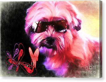 Canvas Print featuring the digital art Incognito Innocence by Kathy Tarochione