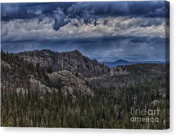 Incoming Storm Over The Black Hills Of South Dakota Canvas Print