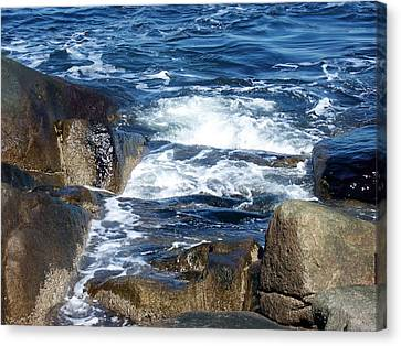 Incoming Tide Canvas Print by Catherine Gagne