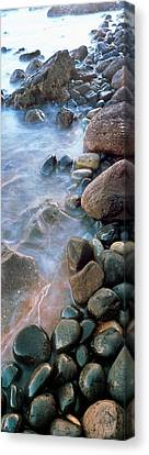 Roca Canvas Print - Incoming Tide Meets A Cobblestone by Panoramic Images
