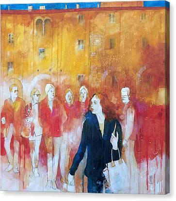 Incontri Casuali Nella Piazza Canvas Print by Alessandro Andreuccetti