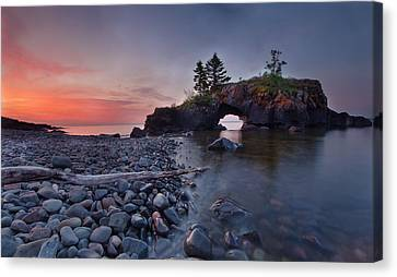 Hollow Rocks, North Shore Mn Canvas Print by RC Pics