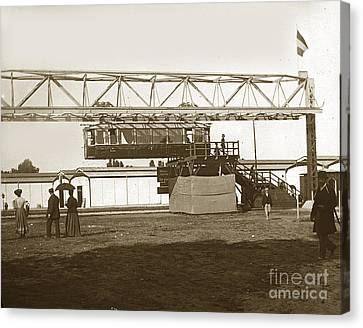 Canvas Print featuring the photograph Incredible Hanging Railway  1900 by California Views Mr Pat Hathaway Archives