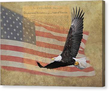 Independence Canvas Print by Angie Vogel