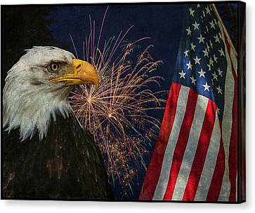 Independence Day Canvas Print by Angie Vogel