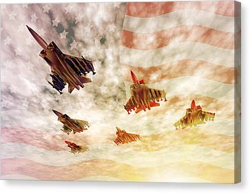 Jet Star Canvas Print - Independence Day by Carol and Mike Werner