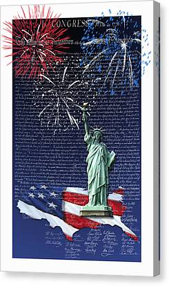 Independence Day Canvas Print by Kathleen Holley