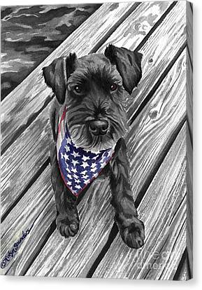 Independence Day Dog Canvas Print