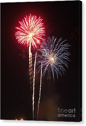 Independence Day Sparklers Canvas Print by Deborah Smolinske