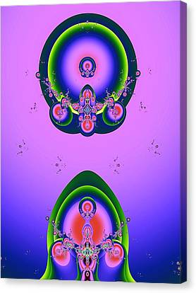 Fractal Orbs Canvas Print - Independence Day by Wendy J St Christopher