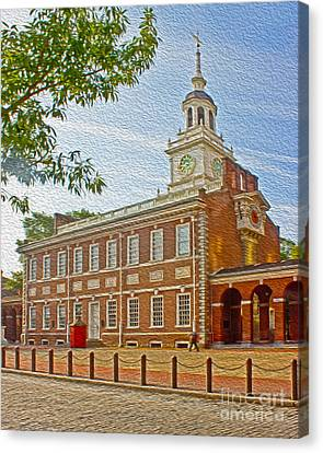 American Independance Canvas Print - Independence Hall Philadelphia  by Tom Gari Gallery-Three-Photography