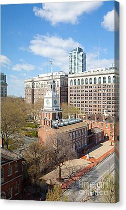 Independence Hall Philadelphia Canvas Print by Kay Pickens